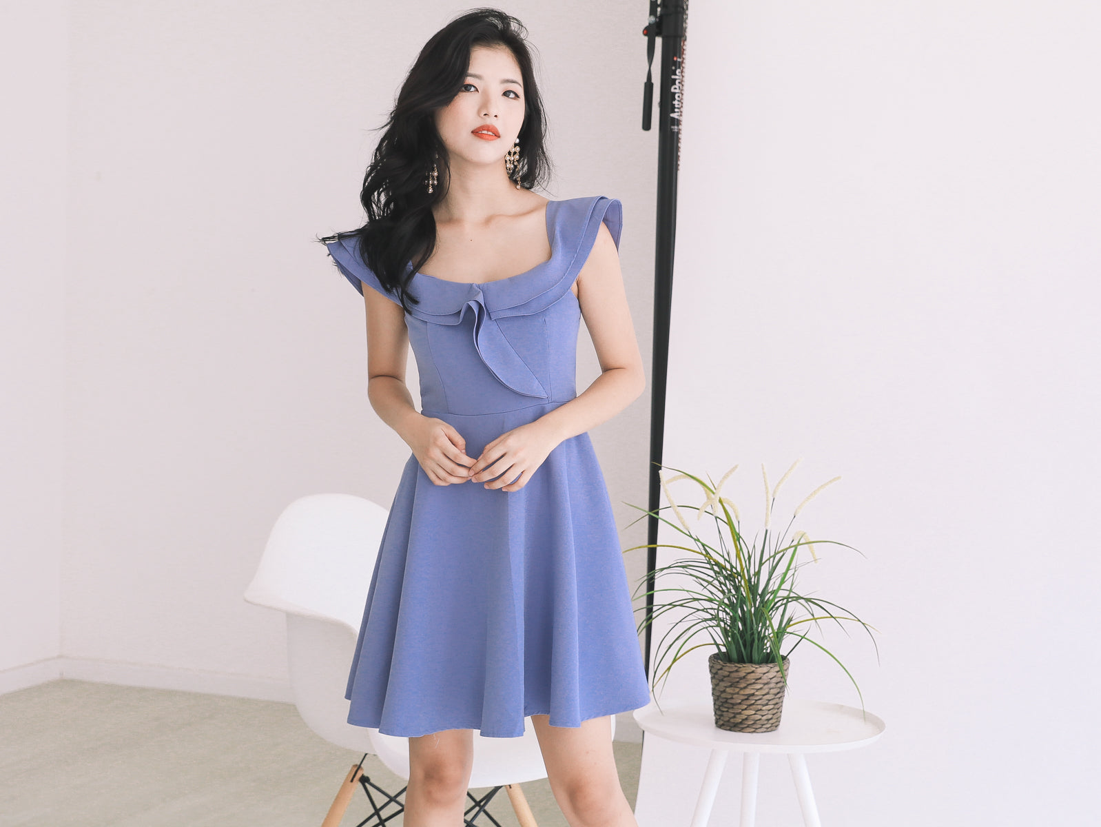 2-Way Off Shoulder Dress in Periwinkle