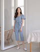 Noreen Button Jumpsuit in Blue