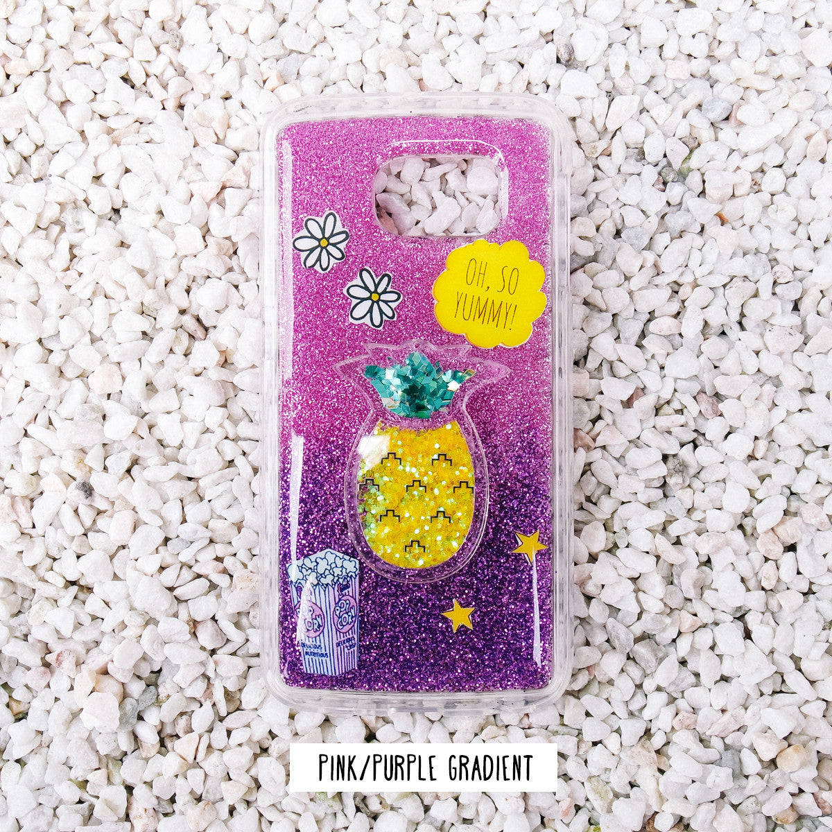 *HANDMADE* Pineapple Glitter Samsung Phone Case
