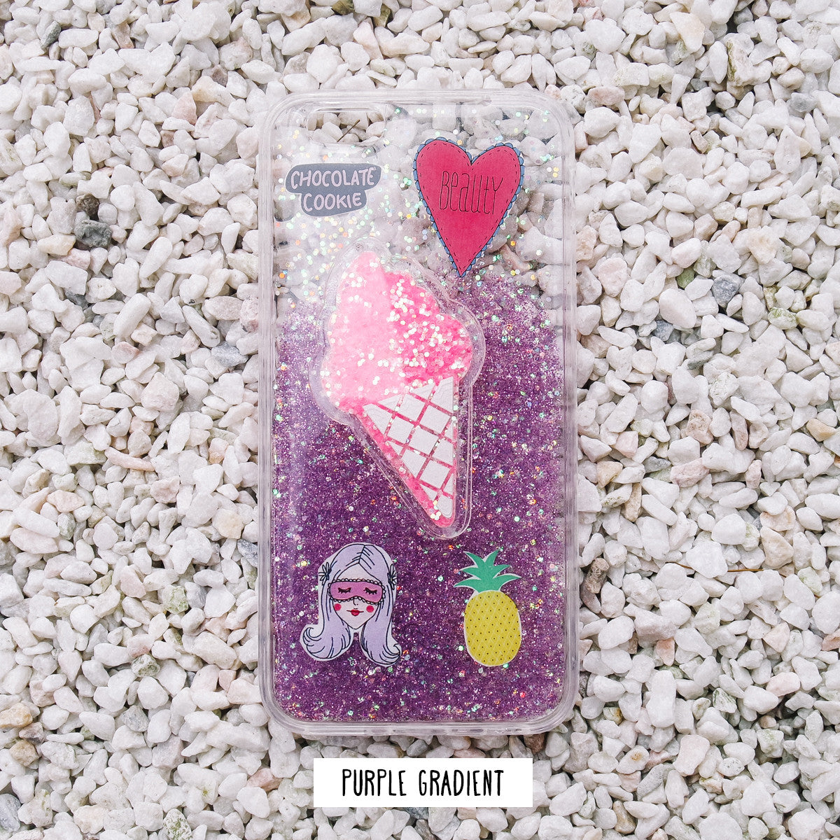 [Restocked] *HANDMADE* Ice Cream Glitter iPhone Case