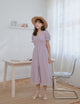 [Restocked] Zoana Eyelet Midi Dress in Lilac