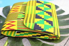 Kente Printed Clutch