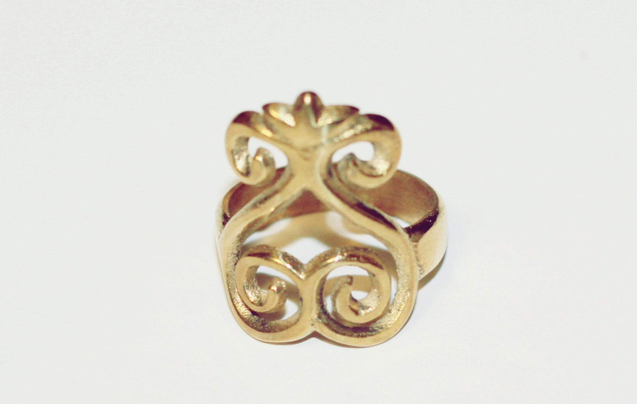 Gold Sankofa Ring