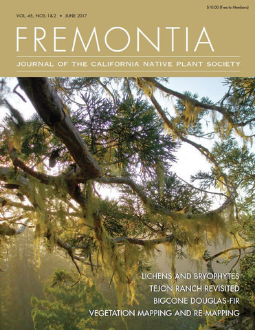 Fremontia Volume 45, Nos. 1 and 2, June 2017