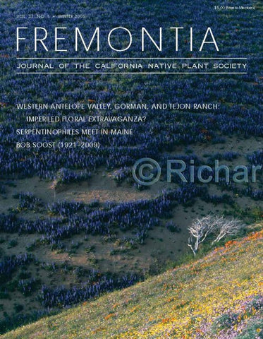 Fremontia Vol. 37, No. 1