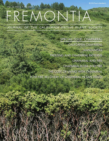 Fremontia Vol. 35, No. 4