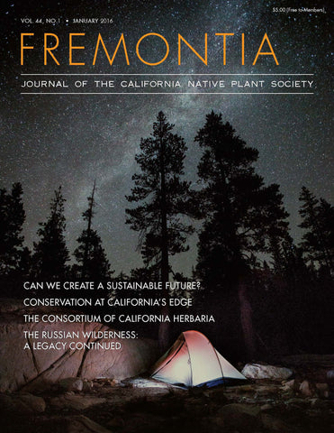 Fremontia Vol. 44, No. 1