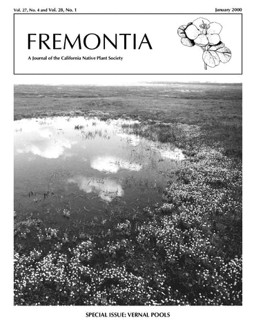 Fremontia Vol. 27, No. 4 and Vol. 28, No. 1