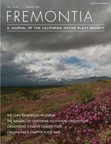 Fremontia Vol. 34, No. 1