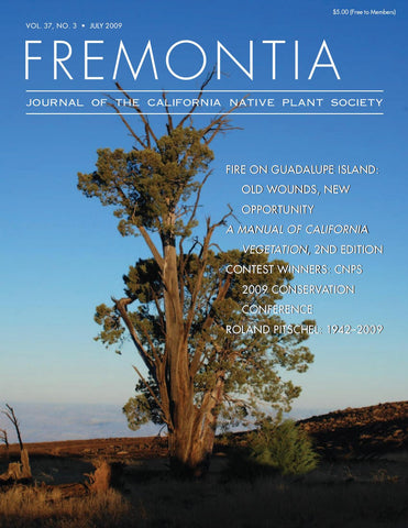 Fremontia Vol. 37, No. 3