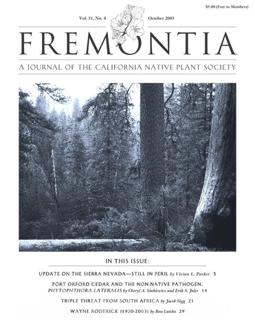 Fremontia Vol. 31, No. 4