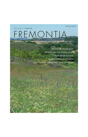 Fremontia Vol. 36, No. 1