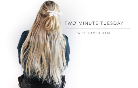 Two Minute Tuesday: Half Bun with a Scrunchy