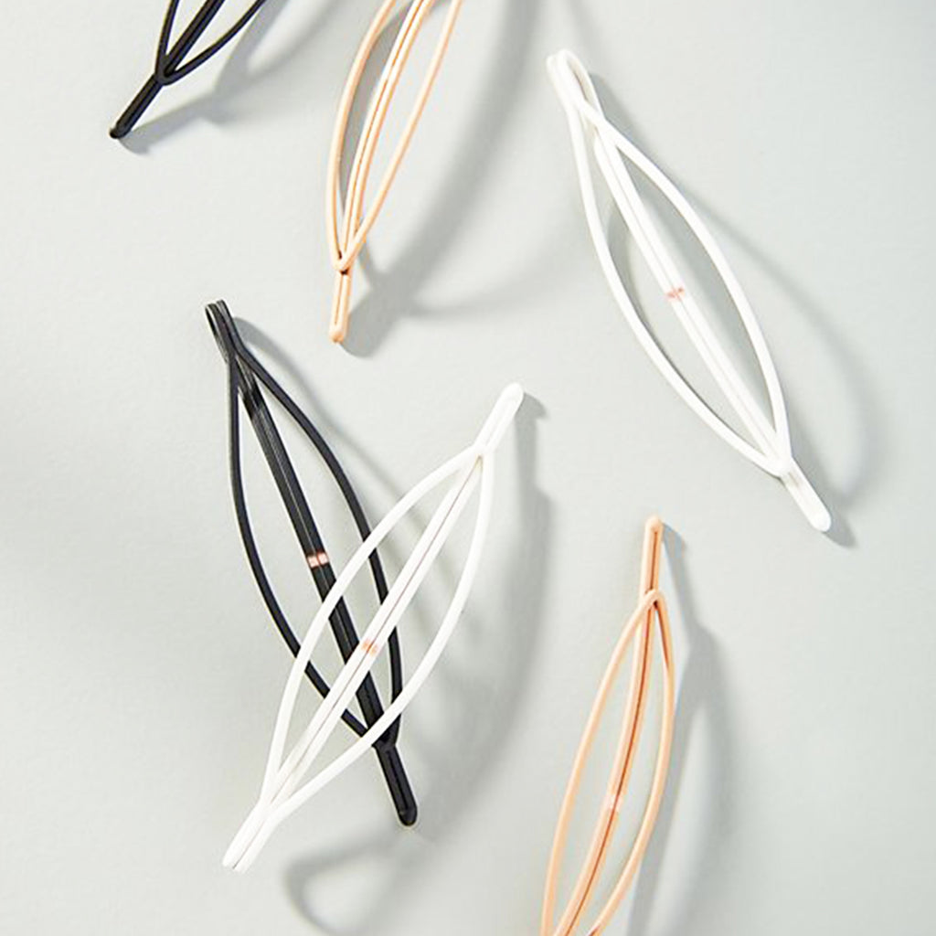 oval hair clips in various colors
