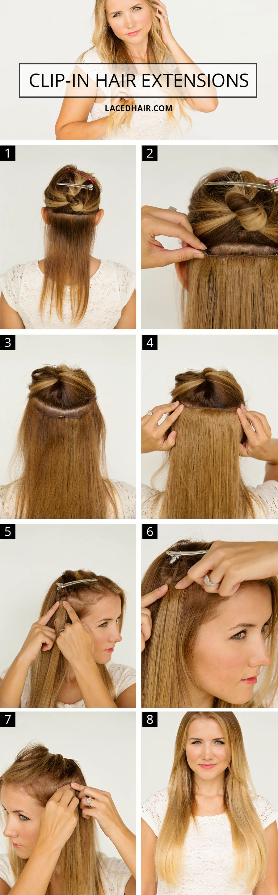 How To Wear Clip In Hair Extensions Laced Hair