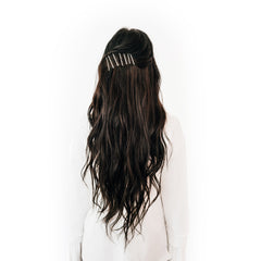 long hair with bobby pins