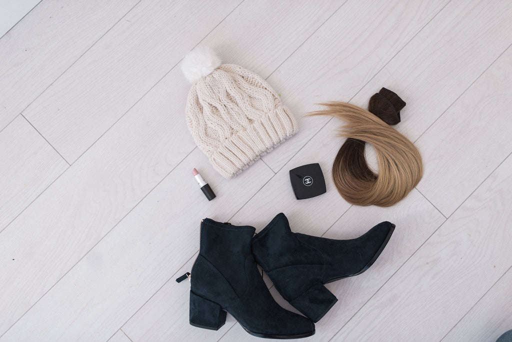 Laced Hair Extensions   Ankle Bootie