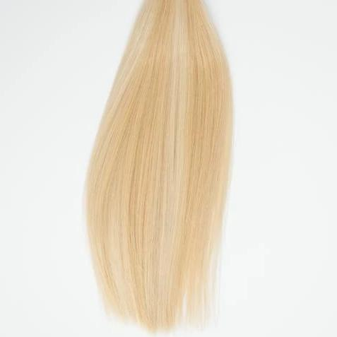 Hand_Tied_Halfsies - Halfsies Hand Tied Weft Extensions Dimensional #16/22 (Buttercream)