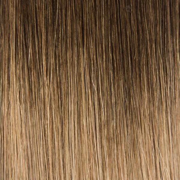 Hand_Tied_Halfsies - Halfsies Hand Tied Weft Extensions Ombré #3/8 (Spiced Cider)