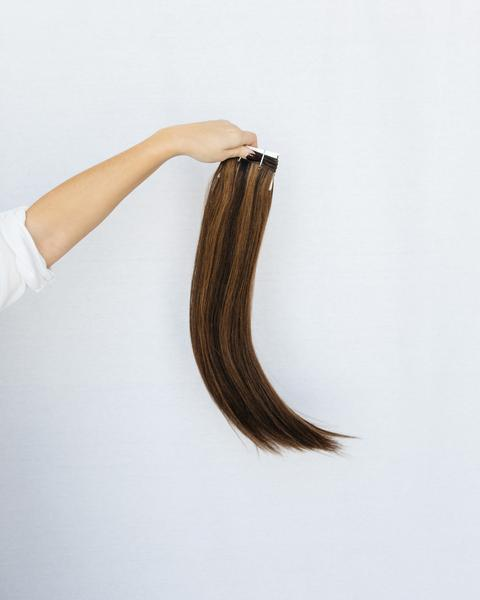 Hand_Tied_Weft - Laced Hair Hand Tied Weft Extensions Dimensional #1B/5