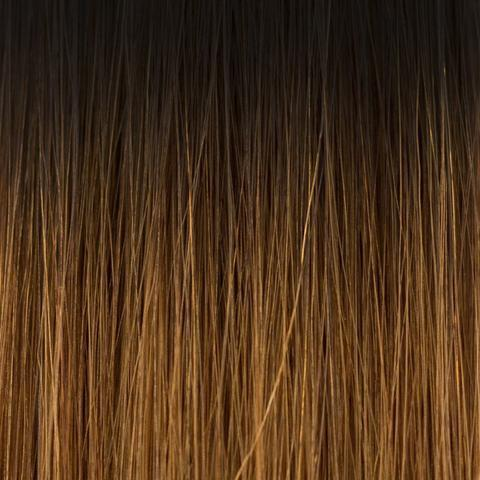 Hand_Tied_Weft - Laced Hair Hand Tied Weft Extensions Ombré #1B/5 (Caramel Latte)