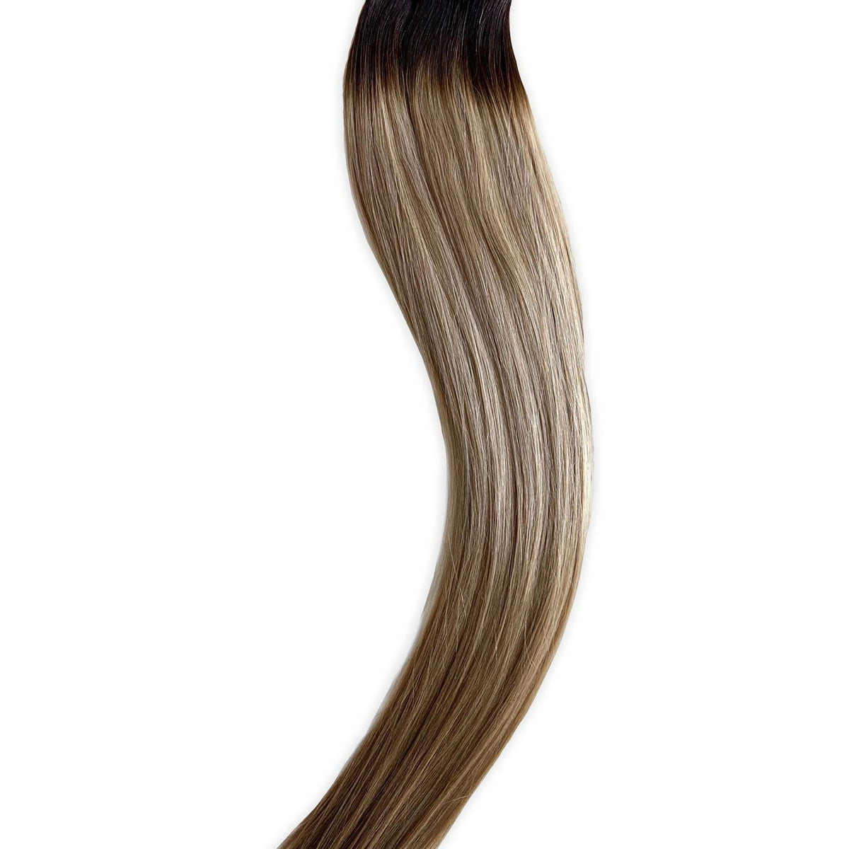 Laced Hair Machine Sewn Weft Extensions Rooted #4/D10/16