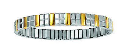 Energetix Wellness Magnetic Bicolor Flexi Stainless Steel Bracelet