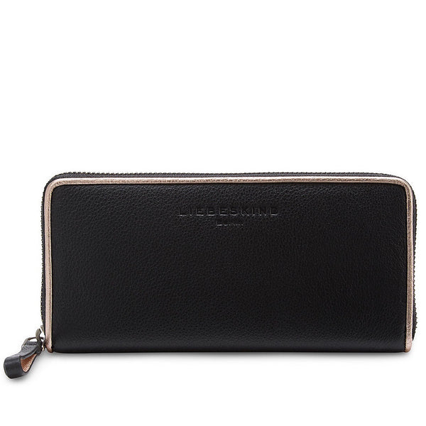 Liebeskind Berlin Grainy Metallic Sally B Wallet Black