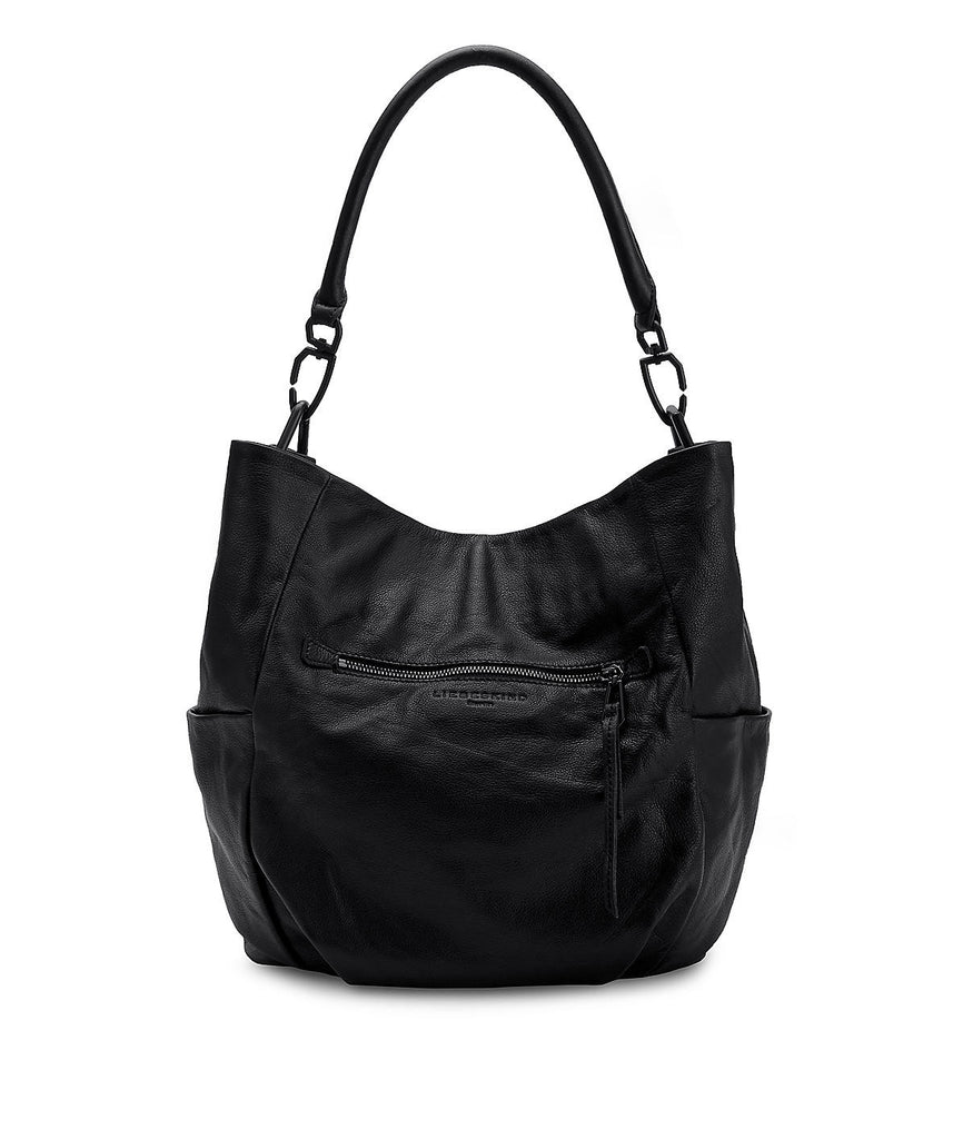 Liebeskind Berlin Vintage Jeany E Hobo Leather Ninja Black