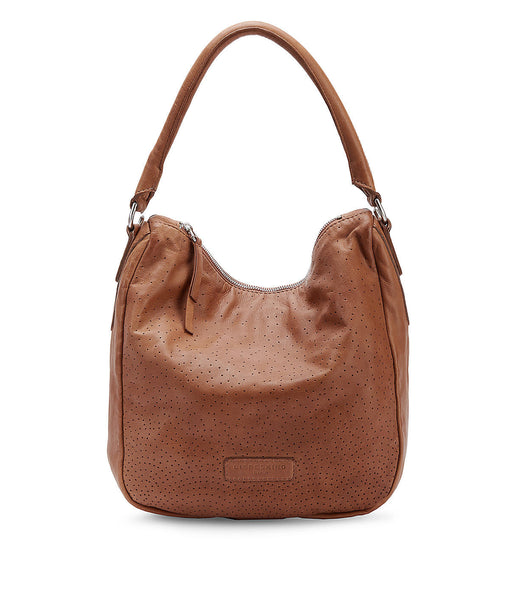 Liebeskind Berlin Perforated Sanjo Leather Hobo Hazelnut Brown