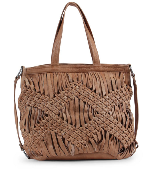 DAY & MOOD Berry Leather Tote Camel