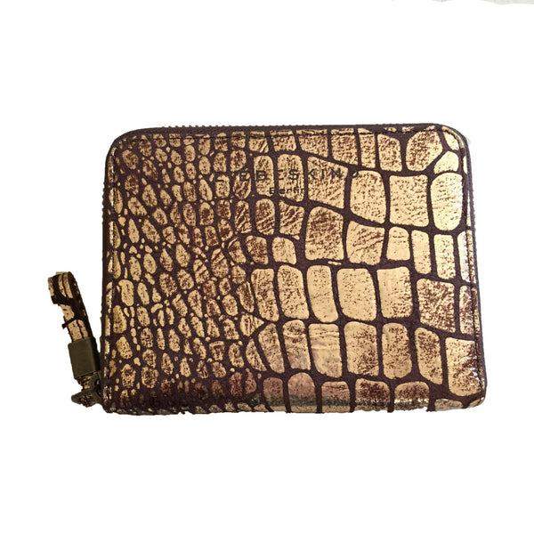 Liebeskind Berlin Metallic Croco Conny Wallet Gold