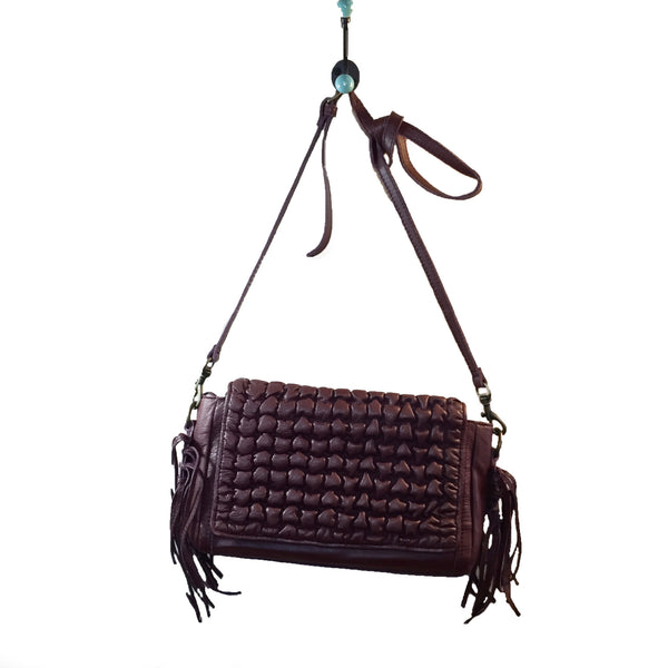 Liebeskind Berlin Vintage Bellows Nisha Shoulder Bag Leather New Chestnut