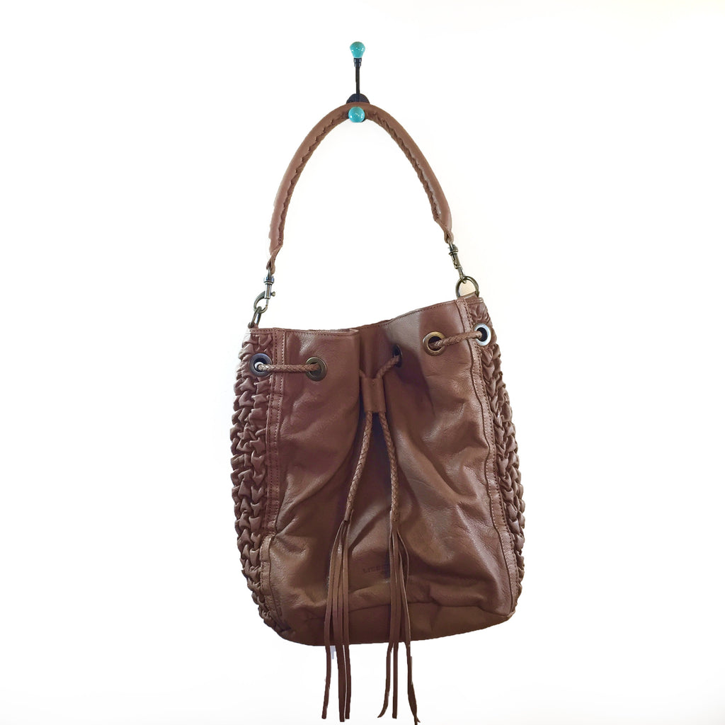 Liebeskind Berlin Bellow Louisa Leather Hobo New Toffee