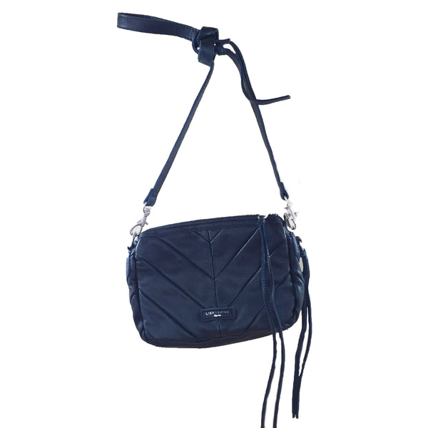 Liebeskind Berlin Vintage Watersnake Juliette Shoulder Bag Dark Blue