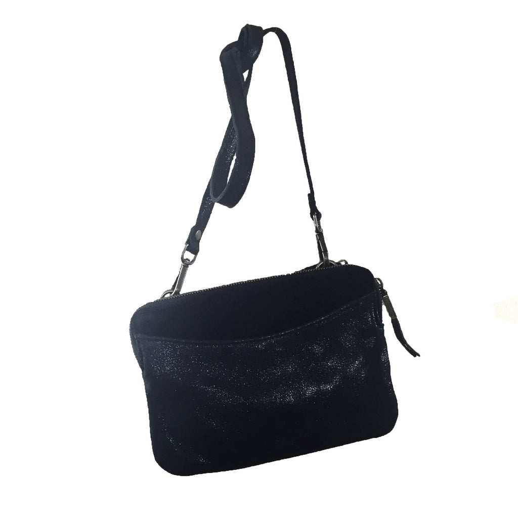 Liebeskind Berlin Silky Suede Karen Crossbody Bag Black