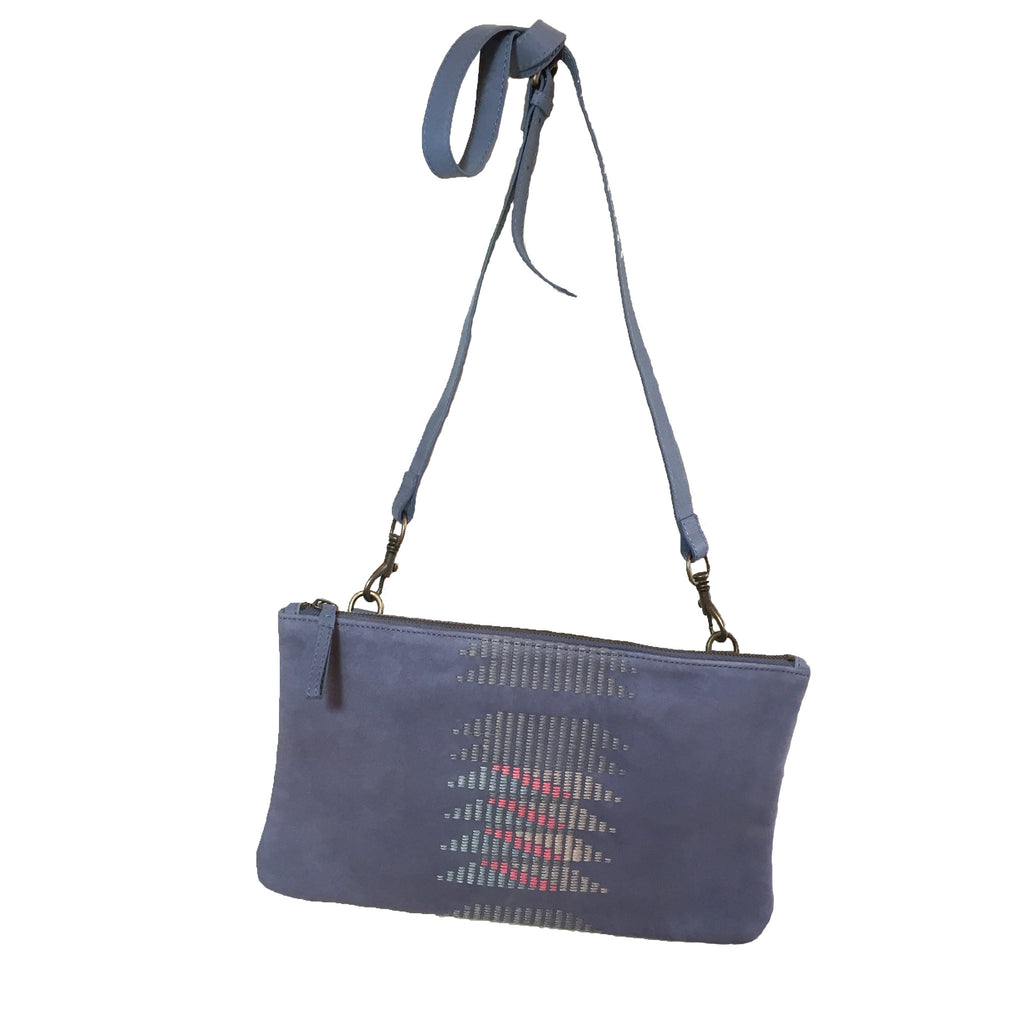 Liebeskind Berlin Embroidery Carol Shoulder Bag Blue