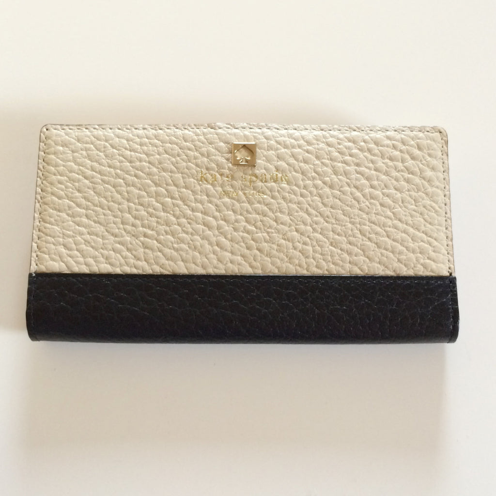Kate Spade Southport Stacy Wallet Buttermilk Black