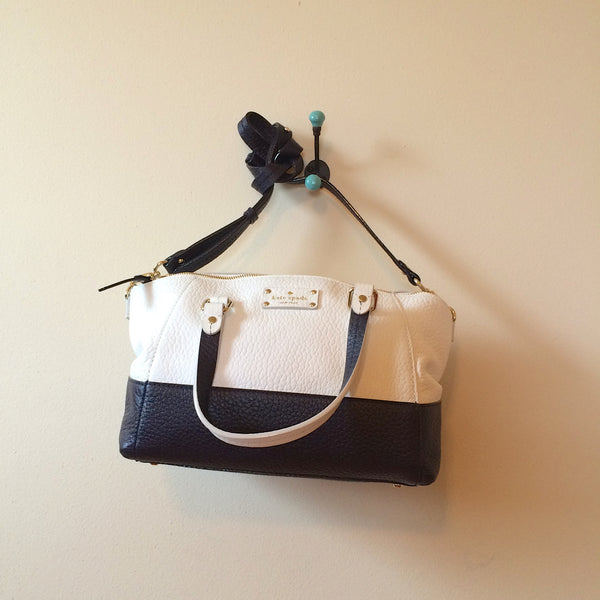 Kate Spade Grove Court Small Sloan Satchel Off White Midnight