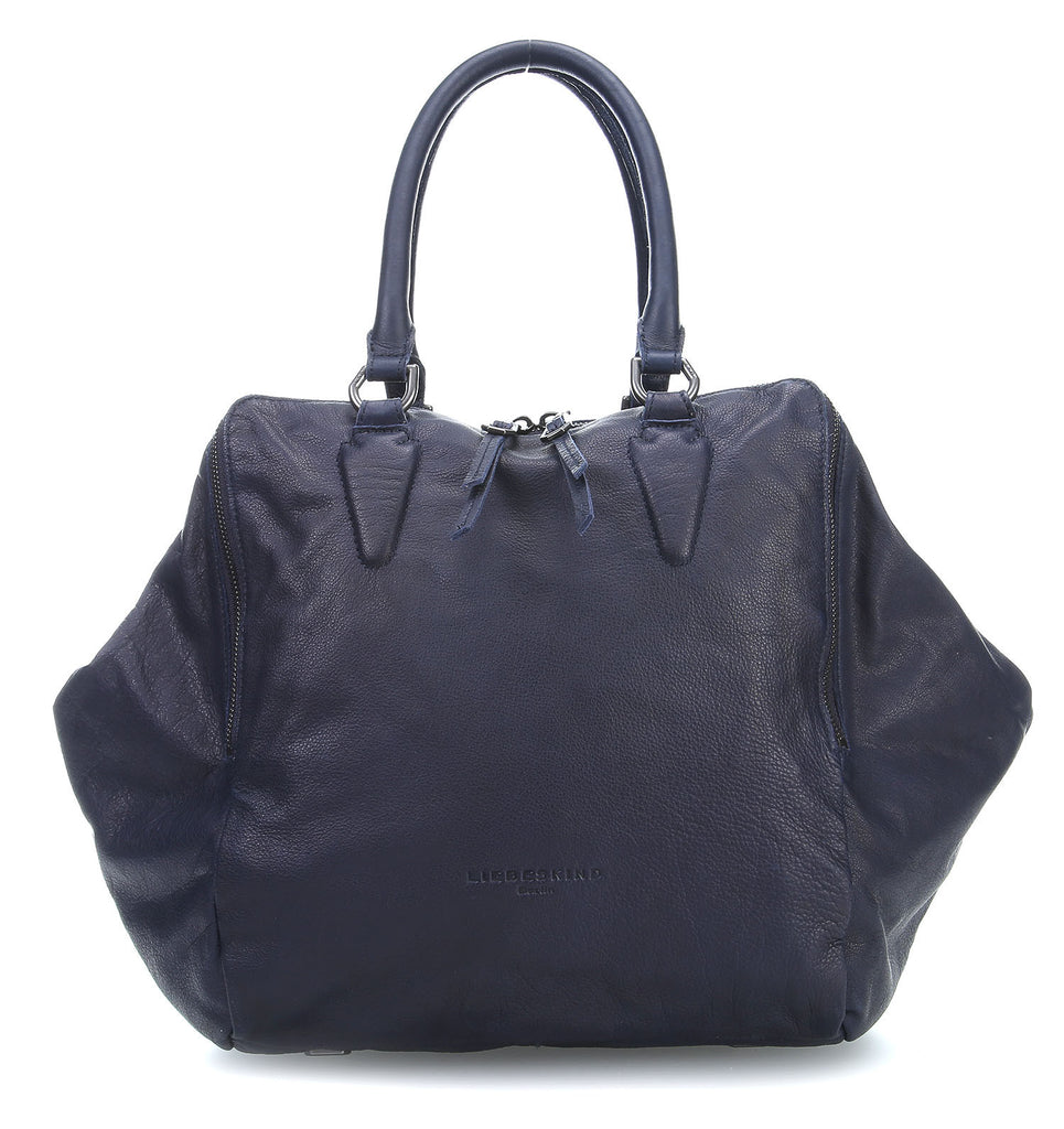 Liebeskind Berlin Vintage Kayla W Tote Leather Midnight Blue