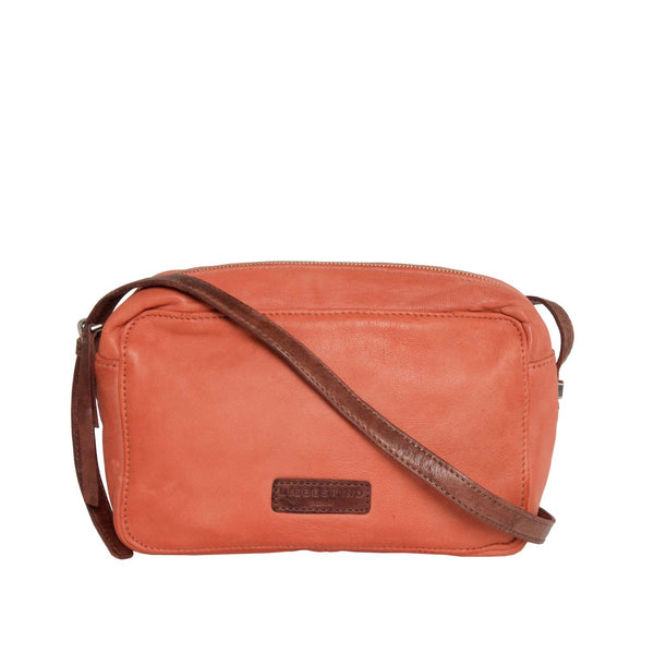 Liebeskind Berlin UrBase Biskra Leather Crossbody Bag Reef Coral