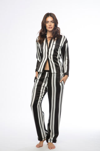 Avery Black & White Stripe Pajamas