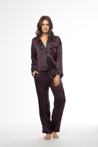 Avery Plum & Navy Stripe Pajamas