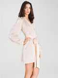 Carla English Rose 100% Silk Robe