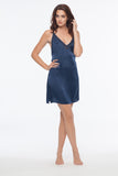 Drew Navy 100% Silk Slip Dress