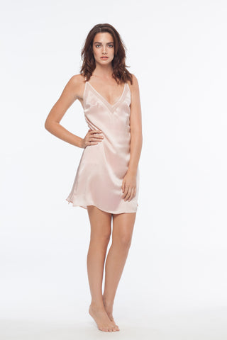 Drew Blush 100% Silk Slip dress