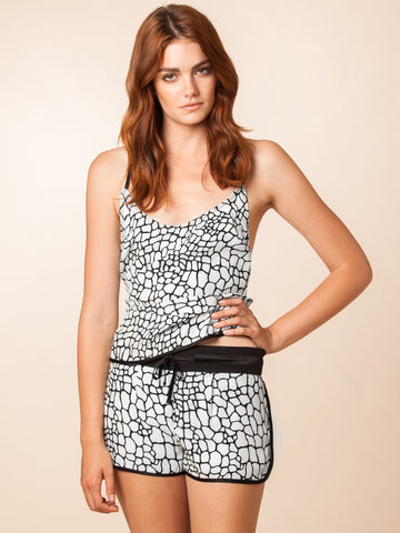 Sydney Croco 100% Silk Tank & Shorts