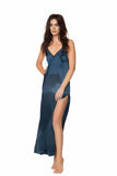 Cameron Midnight Blue Silk Slip Dress