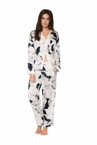 Avery Fan Silk Pajamas