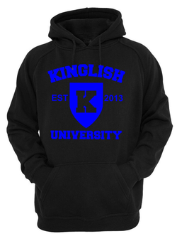 Kinglish University Hoodie (blue logo)